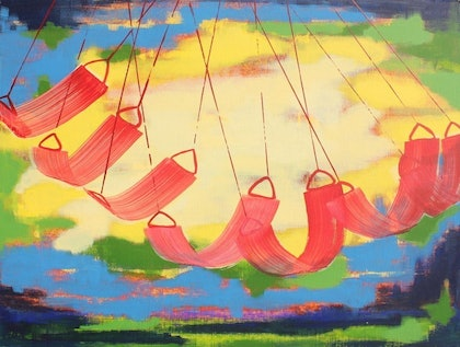 (CreativeWork) Being Present by Pip Montier. arcylic-painting. Shop online at Bluethumb.