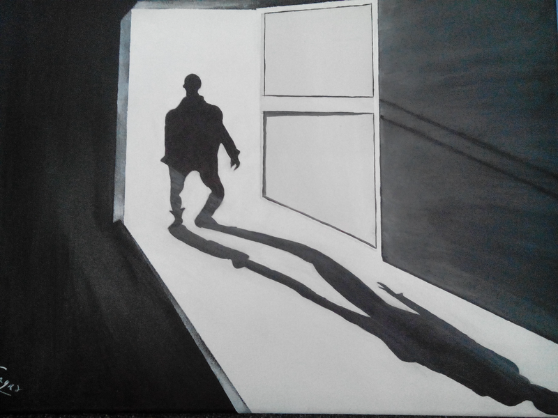 (CreativeWork) The dark shadow by Sagar Nagpal. arcylic-painting. Shop online at Bluethumb.