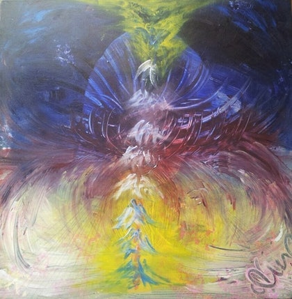 (CreativeWork) Dream Portal by Nat Nat. arcylic-painting. Shop online at Bluethumb.