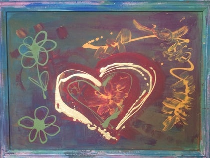 (CreativeWork) Love by Nat Nat. arcylic-painting. Shop online at Bluethumb.