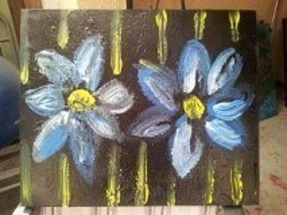(CreativeWork) Flowers by Nat Nat. arcylic-painting. Shop online at Bluethumb.