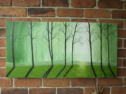 (CreativeWork) forest by seema rani. arcylic-painting. Shop online at Bluethumb.