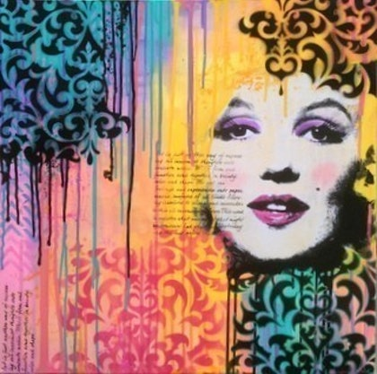 (CreativeWork) Marilyn #2 by Sharon Hegarty. mixed-media. Shop online at Bluethumb.