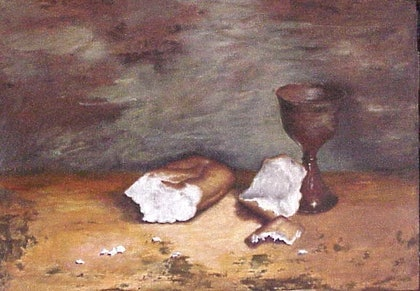 (CreativeWork) Simple Fare by Beryl Stutchbury. oil-painting. Shop online at Bluethumb.