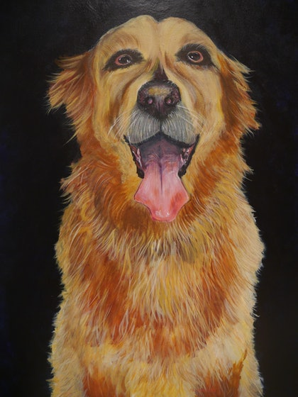 (CreativeWork) Loyal Friend by John Langford. arcylic-painting. Shop online at Bluethumb.