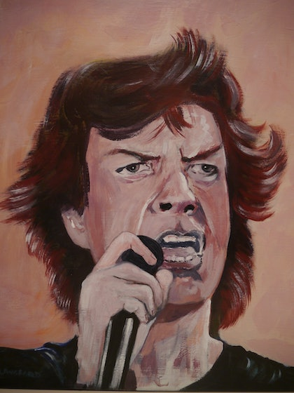 (CreativeWork) Sir Mick by John Langford. arcylic-painting. Shop online at Bluethumb.