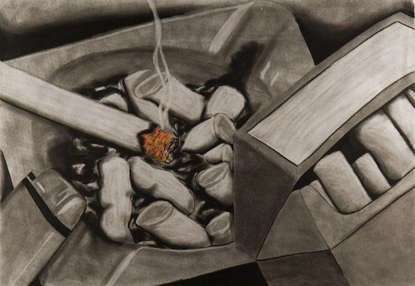 (CreativeWork) Ashtray by Heath Carter. Drawings. Shop online at Bluethumb.