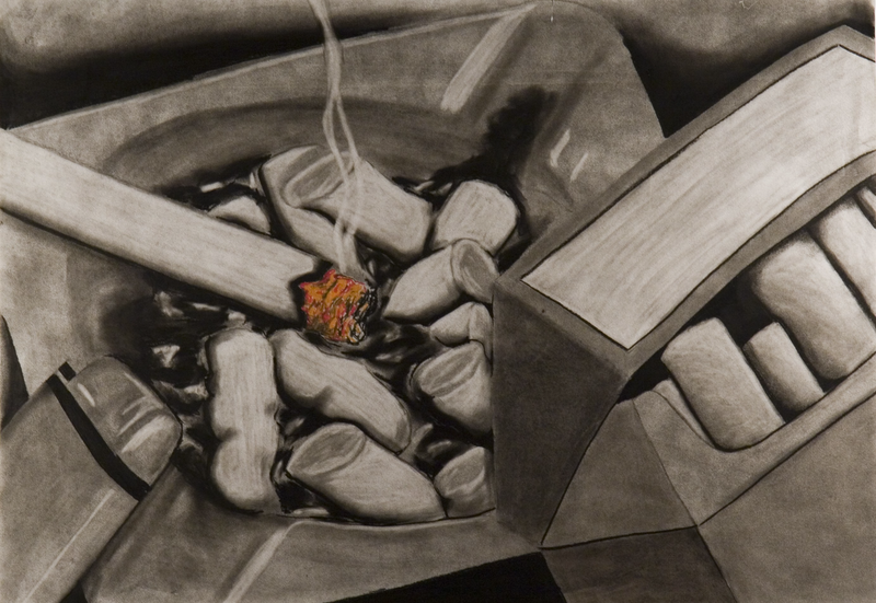 (CreativeWork) Ashtray by Heath Carter. drawing. Shop online at Bluethumb.