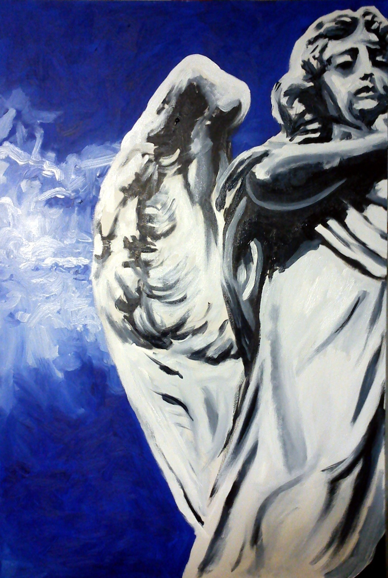 (CreativeWork) Angel by Heath Carter. arcylic-painting. Shop online at Bluethumb.