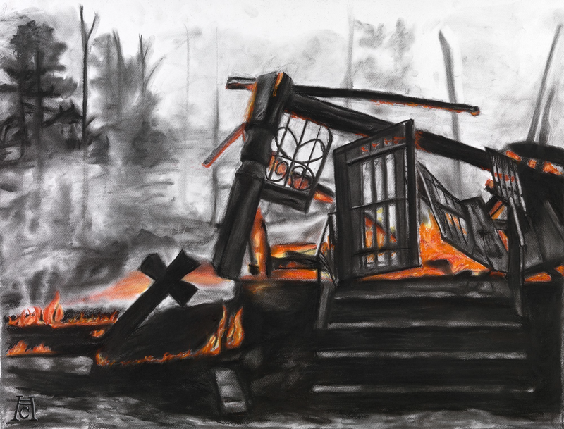 (CreativeWork) ashes by Heath Carter. drawing. Shop online at Bluethumb.