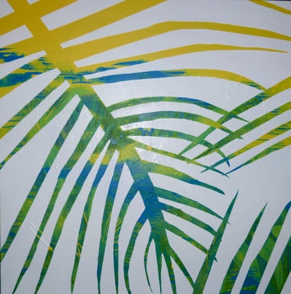 (CreativeWork) The Tropics by Shannon Lynam. arcylic-painting. Shop online at Bluethumb.
