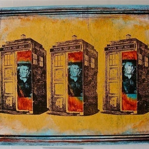 (CreativeWork) 3 Blue Roses ( DR WHO SERIES ) by Sean McGovern. mixed-media. Shop online at Bluethumb.