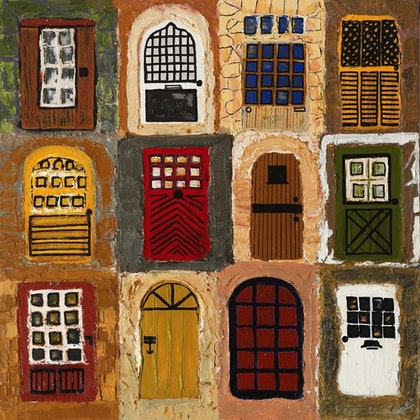 (CreativeWork) Which Door by Tia Henderson. other-media. Shop online at Bluethumb.