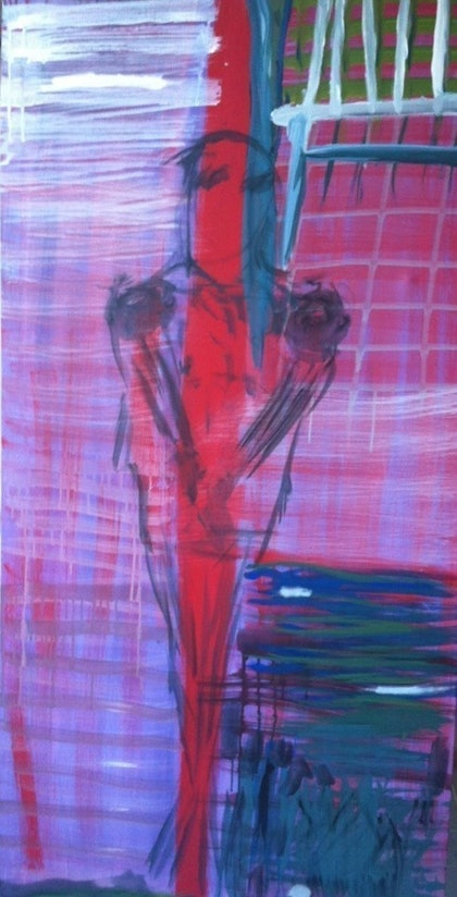 (CreativeWork) mystery man by Tom Gurney. arcylic-painting. Shop online at Bluethumb.