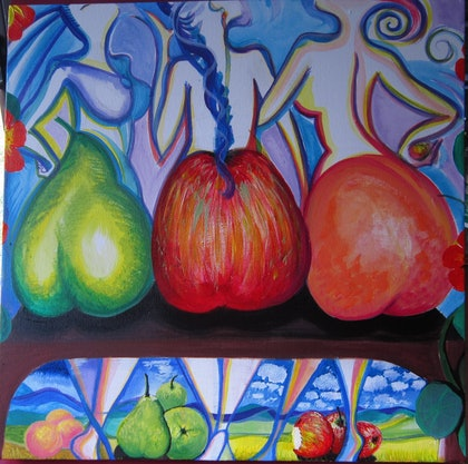 (CreativeWork) Exotic Fruits by Winka von Fahland. arcylic-painting. Shop online at Bluethumb.