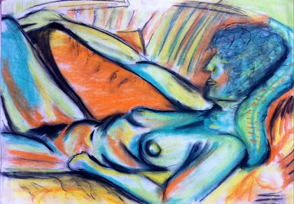 (CreativeWork) Pastel Nude 1 by Cassie Donnelly. other-media. Shop online at Bluethumb.