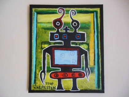 (CreativeWork) Chat box by Barry Claessen. mixed-media. Shop online at Bluethumb.