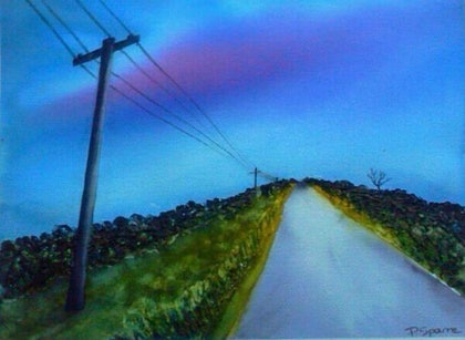 (CreativeWork) Road Less Travelled by Pam Sparre. watercolour. Shop online at Bluethumb.