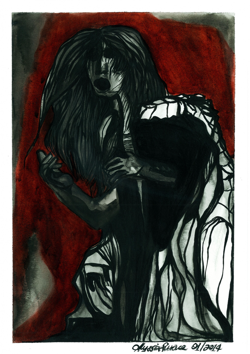 (CreativeWork) 'Crone' by ALYSSIA SURACE. watercolour. Shop online at Bluethumb.