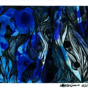 (CreativeWork) 'Cenote' by ALYSSIA SURACE. drawing. Shop online at Bluethumb.