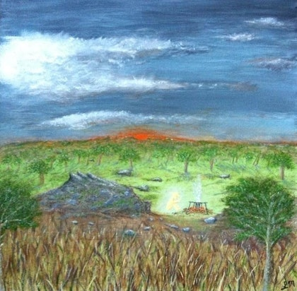 (CreativeWork) Spirit of the bush by Leanne Maree. arcylic-painting. Shop online at Bluethumb.