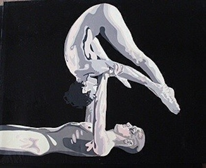 (CreativeWork) Suspension Hold by Roy Maloy. oil-painting. Shop online at Bluethumb.