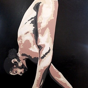 (CreativeWork) Cirque Stance by Roy Maloy. oil-painting. Shop online at Bluethumb.