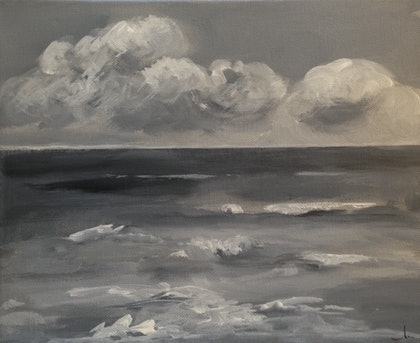 (CreativeWork) seascape 3/2015 by manon S. arcylic-painting. Shop online at Bluethumb.