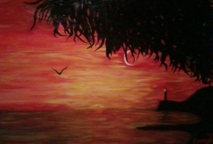 (CreativeWork) Light House View by Christopher Eades. arcylic-painting. Shop online at Bluethumb.