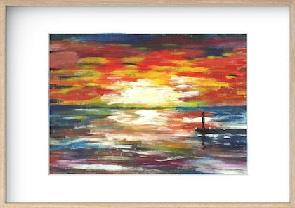 (CreativeWork) the lonely sun rise by james hou. arcylic-painting. Shop online at Bluethumb.