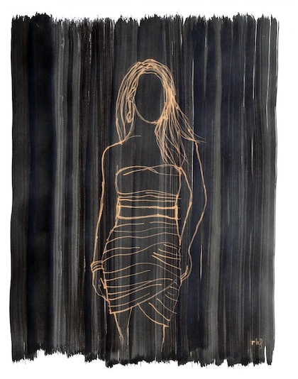 (CreativeWork) Undefined woman by Rubén Hernández. other-media. Shop online at Bluethumb.