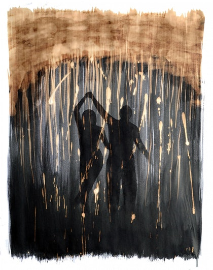 (CreativeWork) Dancing in the rain by Rubén Hernández. other-media. Shop online at Bluethumb.