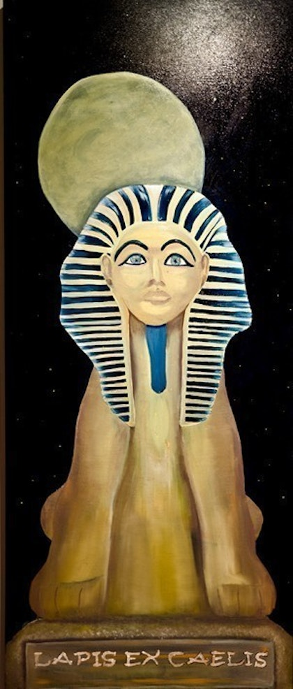 (CreativeWork) The Sphinx by Martine Louise. oil-painting. Shop online at Bluethumb.