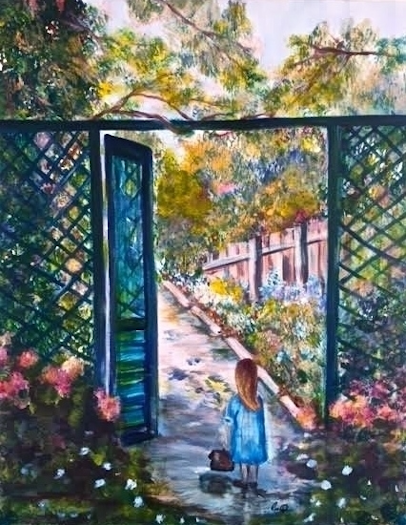 (CreativeWork) Open Gate 60x75x3.5 Gift Idea' Ready to Hang by Louise Croese. arcylic-painting. Shop online at Bluethumb.