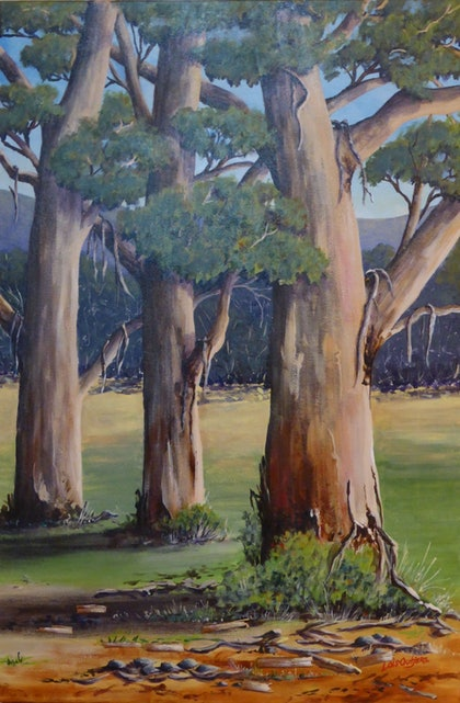 (CreativeWork) Bush Reflections by Lois Outjers. arcylic-painting. Shop online at Bluethumb.