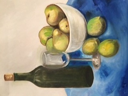(CreativeWork) Still Life by Toni Brown. oil-painting. Shop online at Bluethumb.