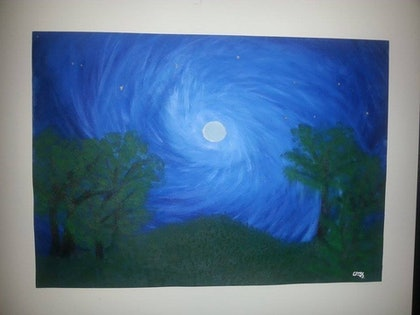 (CreativeWork) moonlight by Emily Ferguson. arcylic-painting. Shop online at Bluethumb.