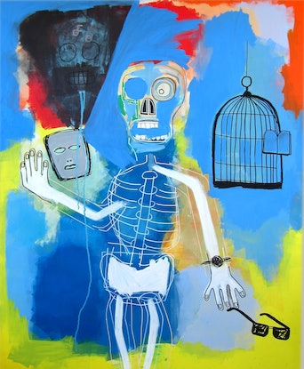 (CreativeWork) Take off your cool by Cameron Holmes. Mixed Media. Shop online at Bluethumb.