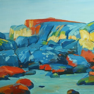(CreativeWork) Secluded Place 1 by Glenn Miller. oil-painting. Shop online at Bluethumb.