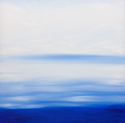 (CreativeWork) Into The Blue by Rosanne Bender. Oil. Shop online at Bluethumb.