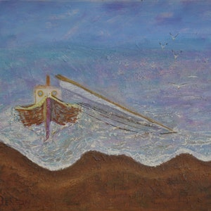 (CreativeWork) Broken mast by Richard Benson. arcylic-painting. Shop online at Bluethumb.