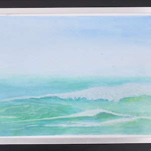 "(CreativeWork) ""Ocean Breezes"" by Richard Benson. watercolour. Shop online at Bluethumb."