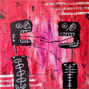 (CreativeWork) Kiss by Leith Kennedy. mixed-media. Shop online at Bluethumb.