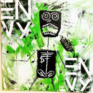 (CreativeWork) Envy by Leith Kennedy. mixed-media. Shop online at Bluethumb.