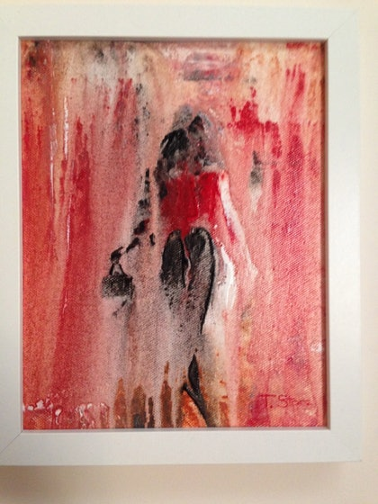(CreativeWork) Faire du Shopping by Terry Stone. arcylic-painting. Shop online at Bluethumb.