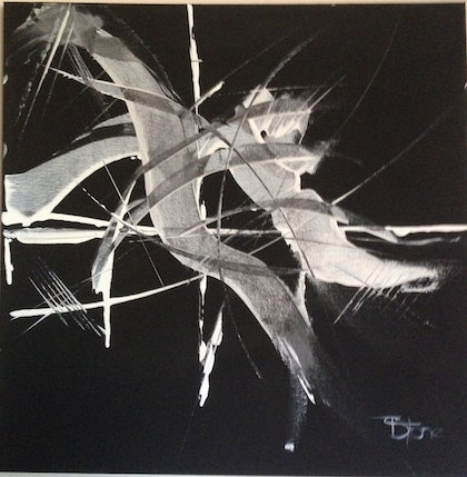 (CreativeWork) 3D into Darkness by Terry Stone. arcylic-painting. Shop online at Bluethumb.