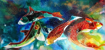 (CreativeWork) Rhapsody of the Sea by clodagh henry. mixed-media. Shop online at Bluethumb.