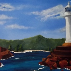(CreativeWork) wollongong harbour by Cheryl James. arcylic-painting. Shop online at Bluethumb.