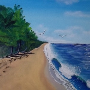 (CreativeWork) palm beach by Cheryl James. arcylic-painting. Shop online at Bluethumb.