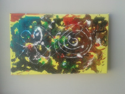 (CreativeWork) Abstract 2 by SUMAN MALIK. oil-painting. Shop online at Bluethumb.